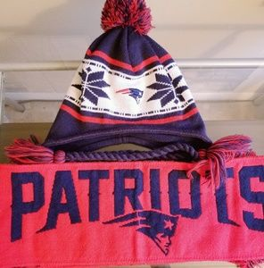 Accessories - NFL Patriots Hat & Scarf